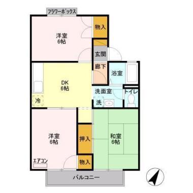 フラワーハイツ菅谷 A 202